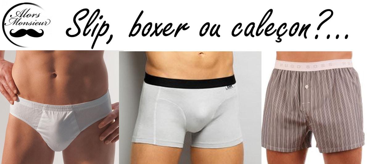 slip boxer calecon