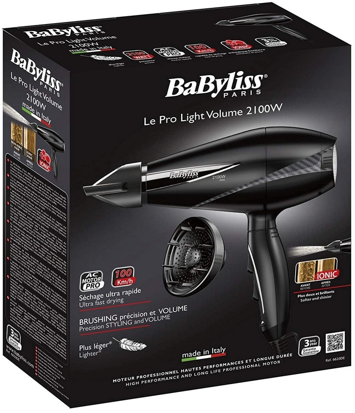 Test du Babyliss 6610DE Pro Light Volume 2100W