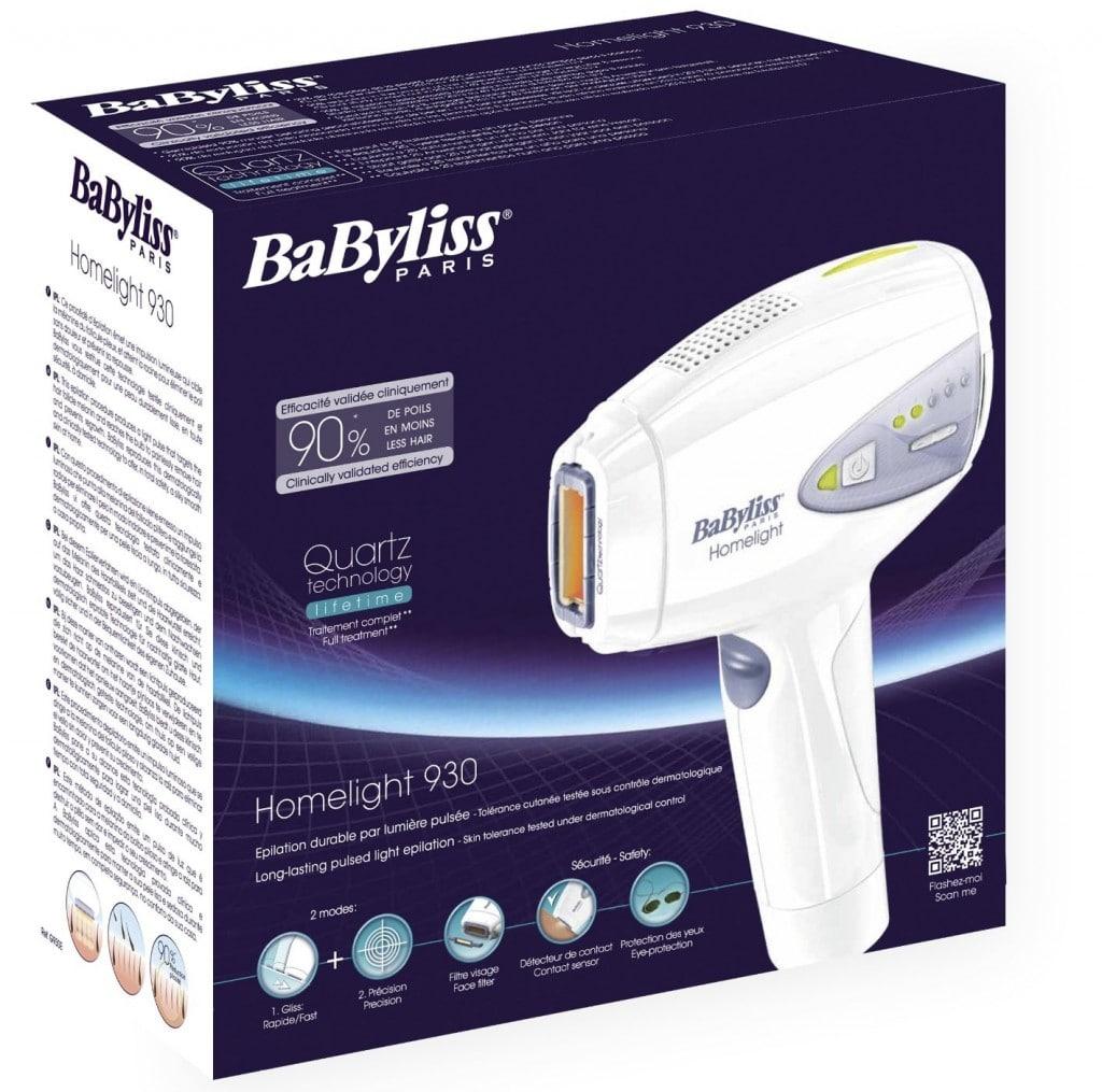 Avis sur l'épilateur à lumière pulsée Babyliss G930E Homelight
