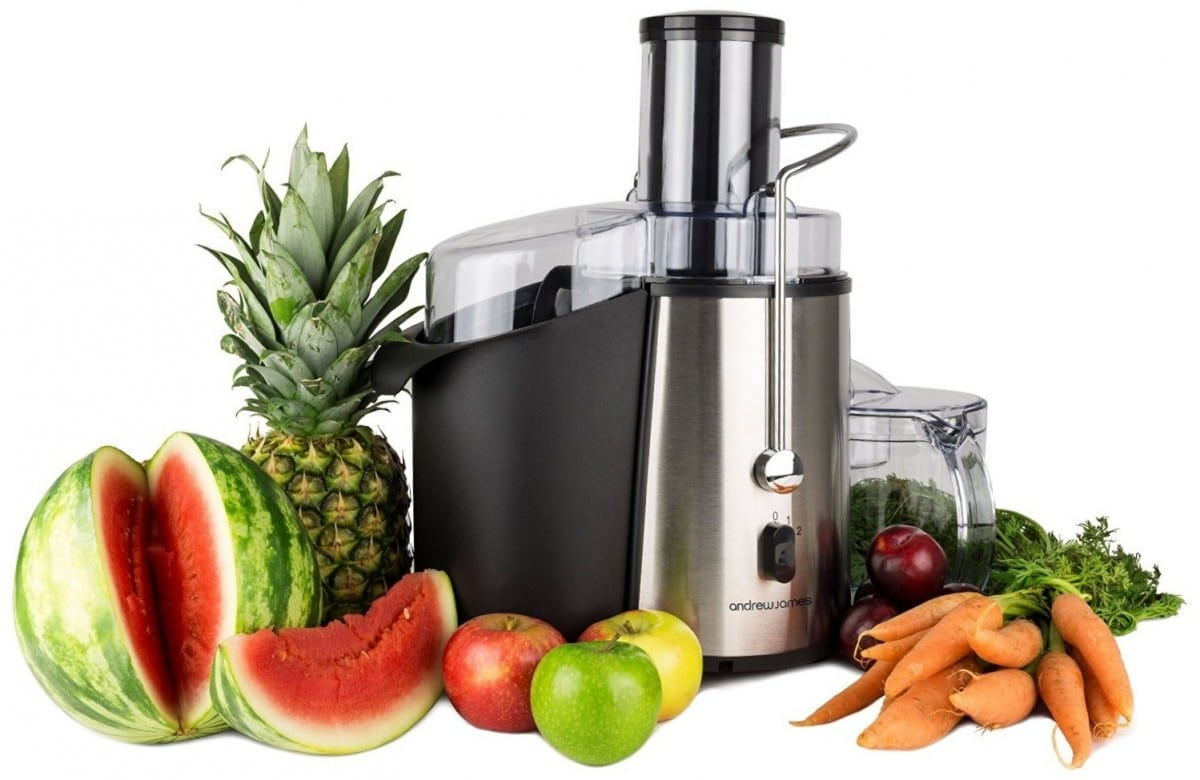 Avis sur l'extracteur de jus Andrew James 850W Whole Fruit Power