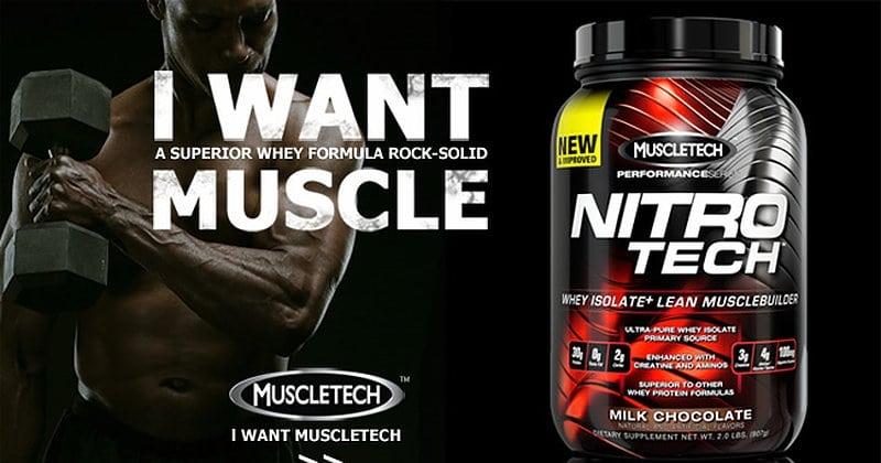 Avis sur la whey protéine Nitro-Tech de Muscletech