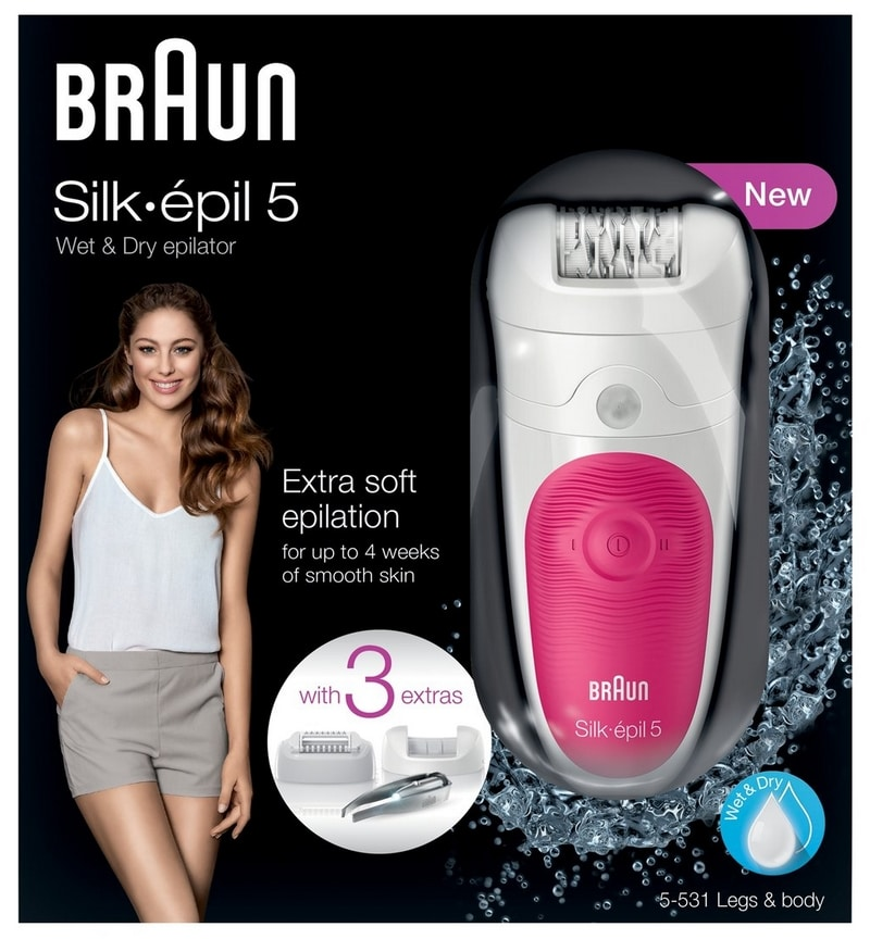Test du Braun Silk-Épil 5 Wet&Dry 5-531