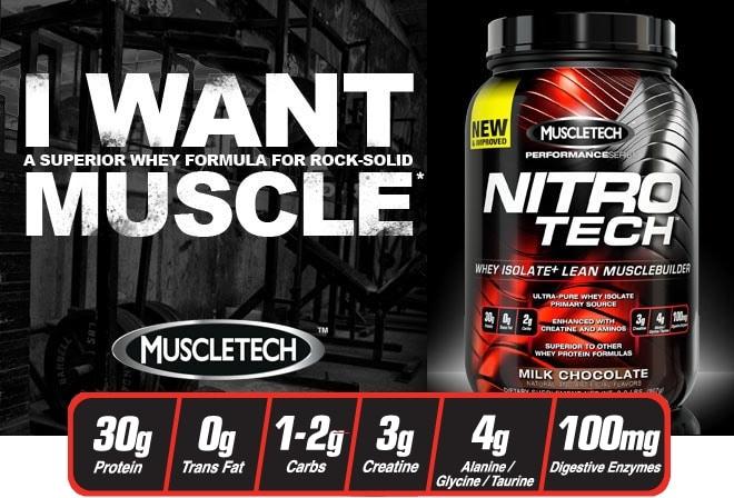Test de la Nitro-Tech de Muscletech