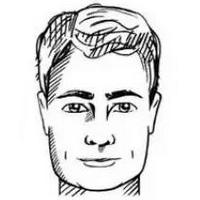 Coiffures pour hommes ovales en forme de visage