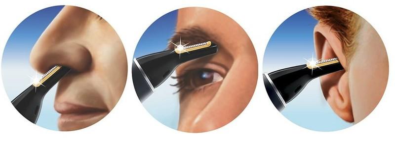 tondre poils du nez oreilles et sourcils