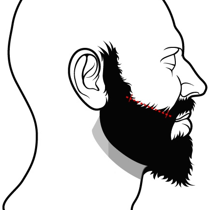 Tailler barbe joues