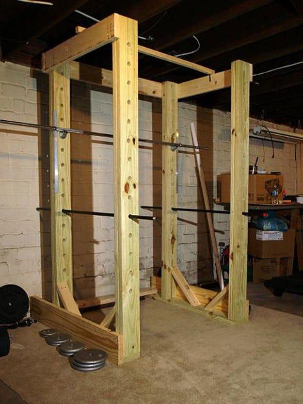 Rack et cage squat notre s lection des meilleurs - Construire barre traction exterieur ...