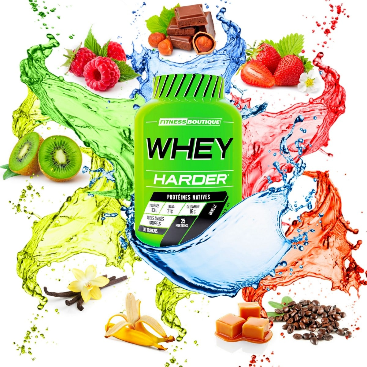 Test de la Whey Harder de FitnessBoutique