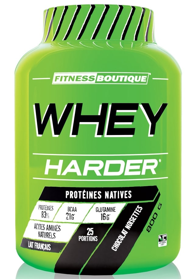 Whey protéine Whey Harder de FitnessBoutique