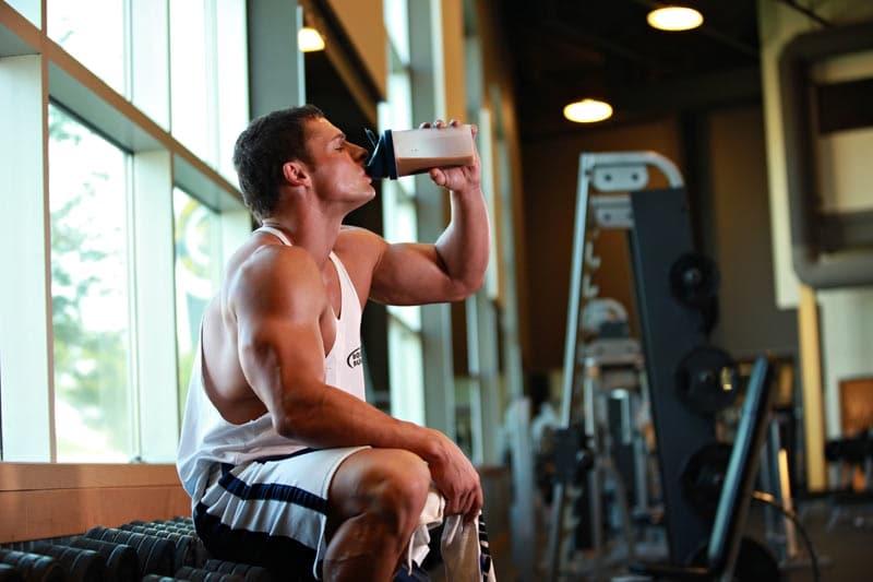 La whey protéine pendant l'entrainement