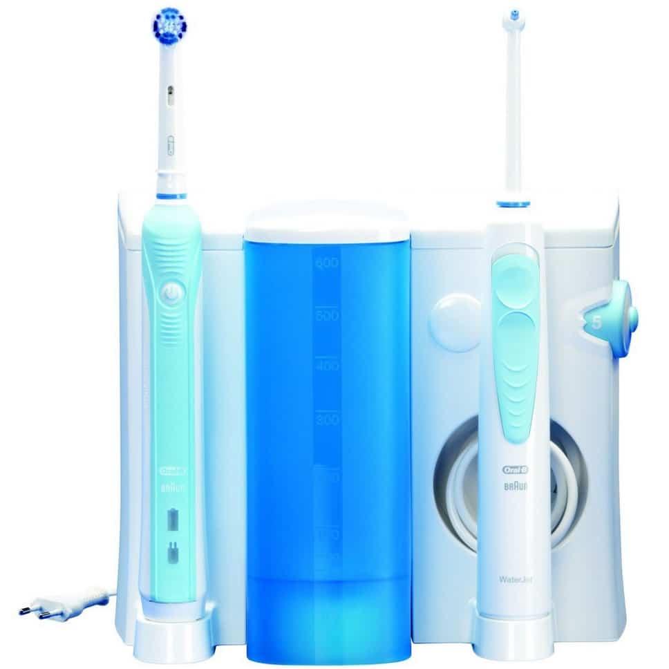 Jet dentaire hydropulseur combiné 2-en-1