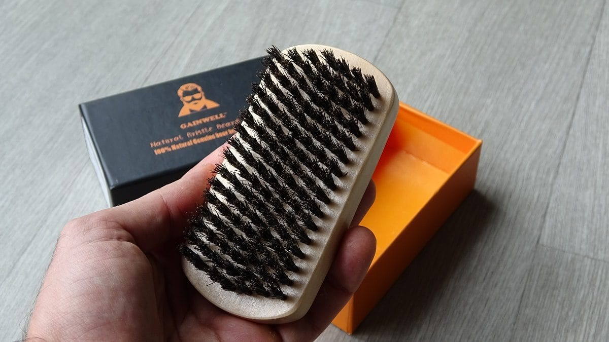 Brosse à barbe Gainwell en poils de sanglier