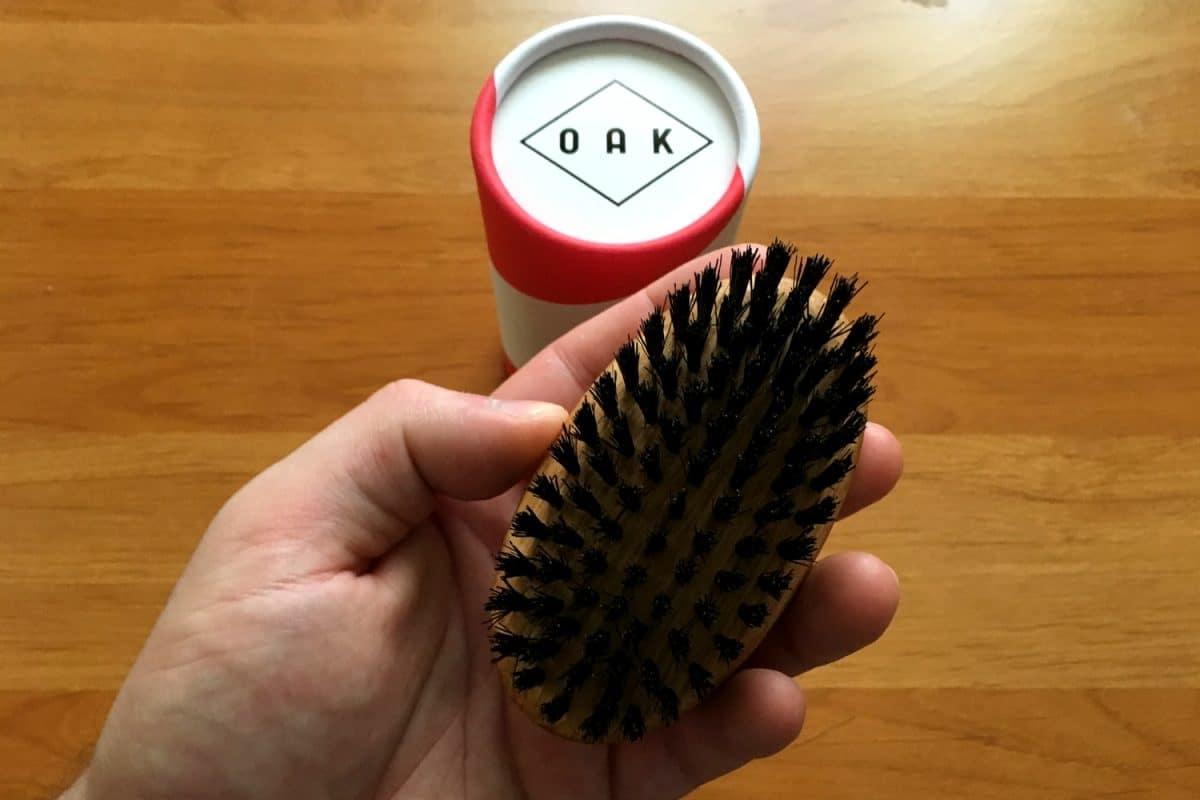 Brosse à barbe Oak en poils de sanglier