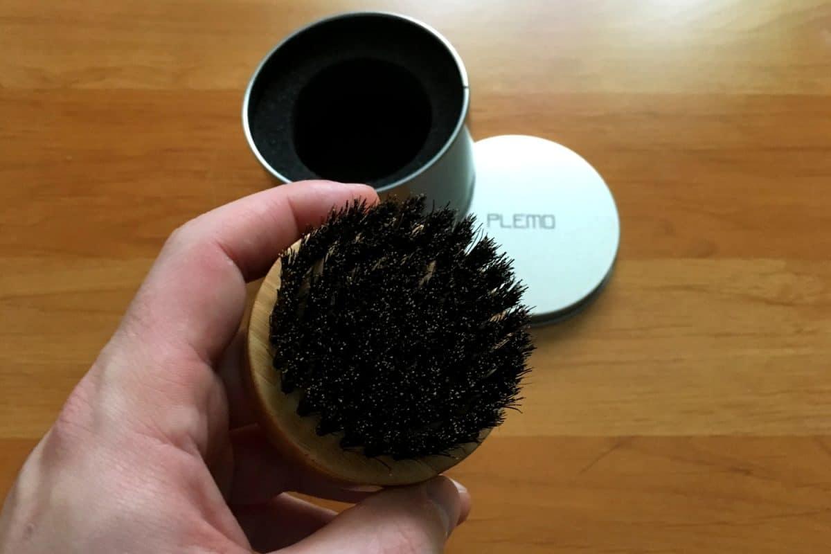 Brosse à barbe Plemo en poils de sanglier