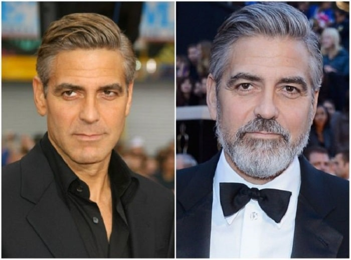 photo barbe George Clooney