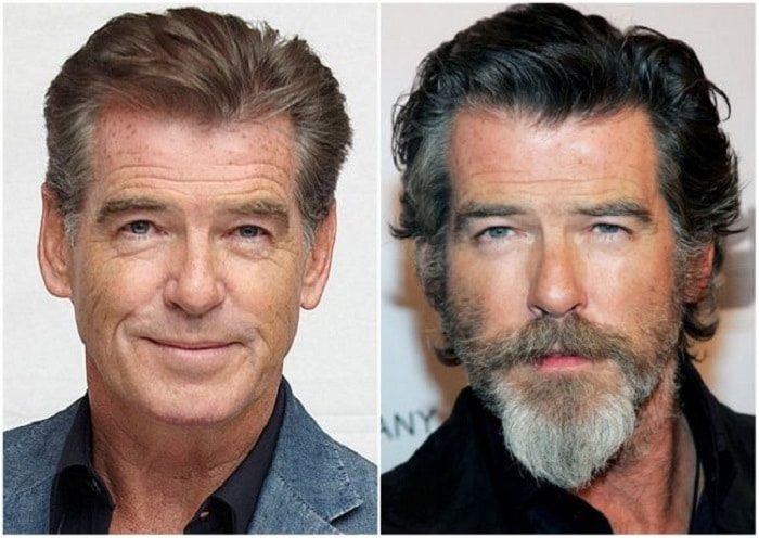 photo barbe Pierce Brosnan