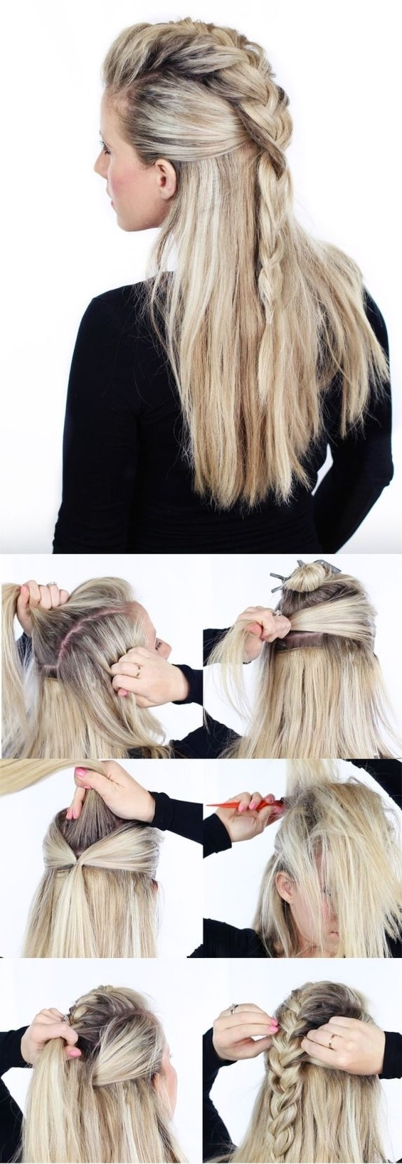 Coiffure fausse crête
