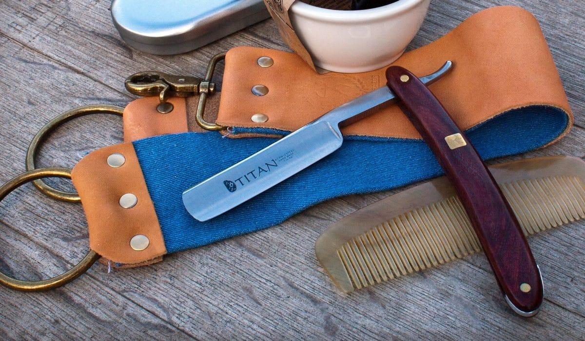 Affûter rasoir coupe choux cuir à aiguiser
