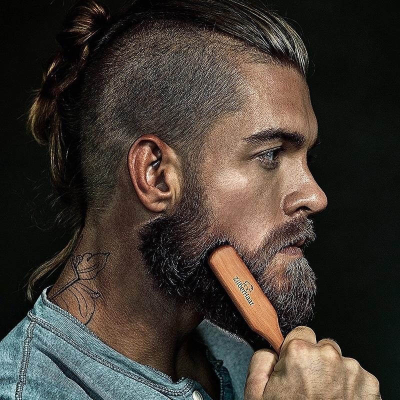 Barbe clairsemée brosse à barbe