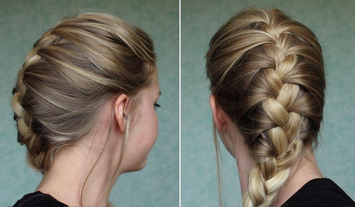 Cheveux bouclés naturellement tresses chignons