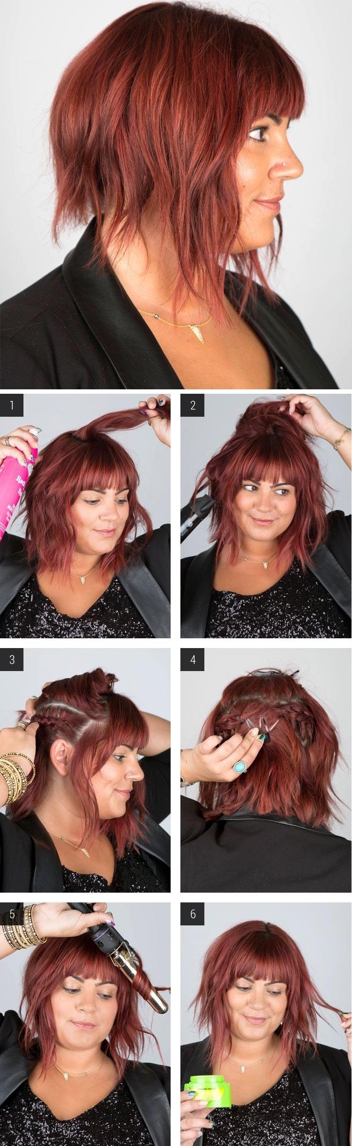Coiffure cheveux courts carré plongeant