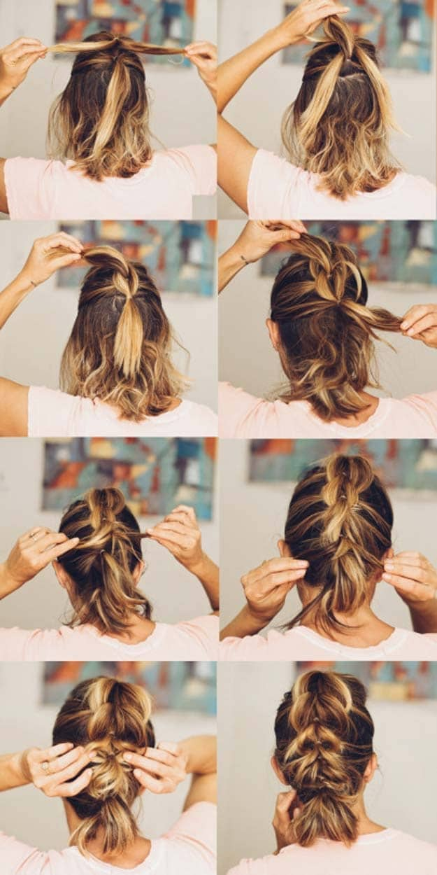 Idee coiffure cheveux carre court
