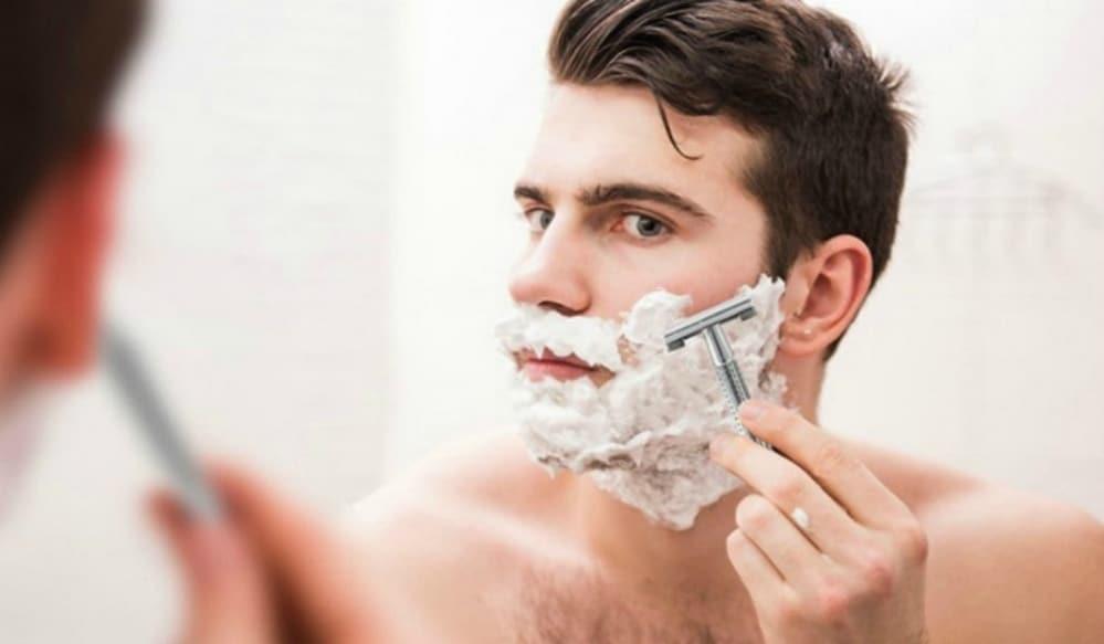 Poils incarnés barbe rasage