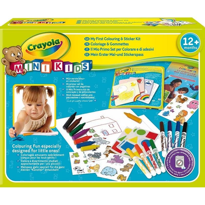 Jouet Noël Kit de coloriage et gommettes Crayola