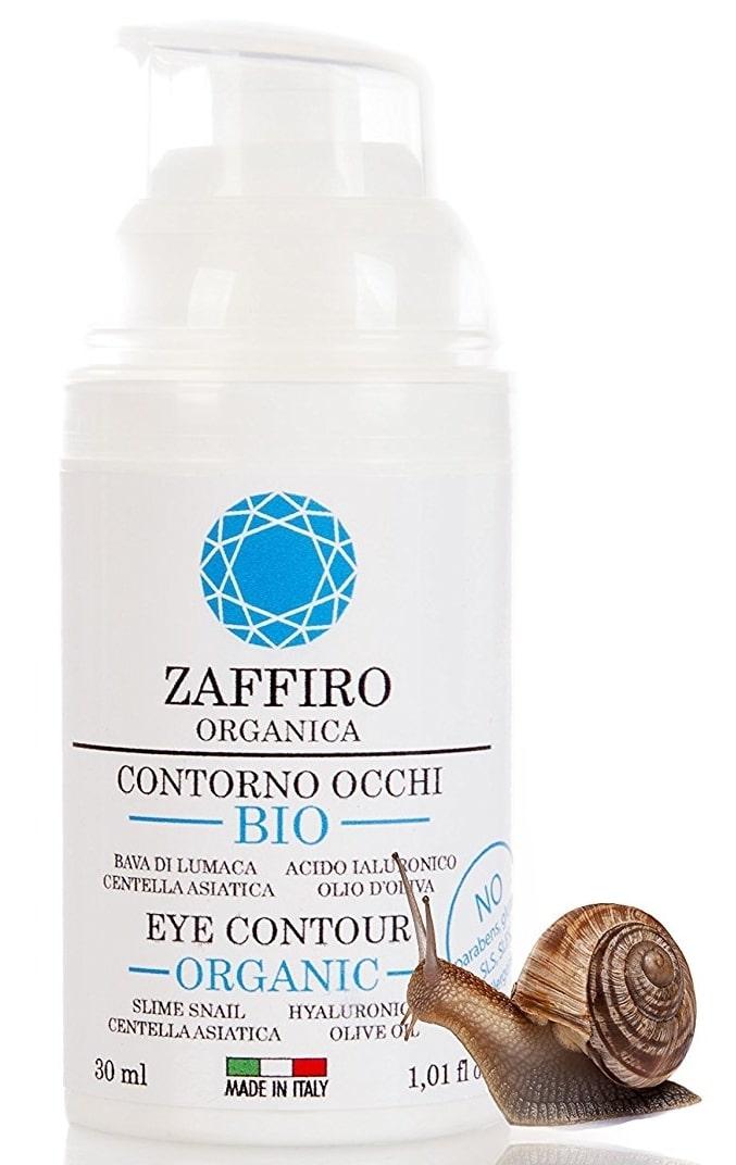 Anti cernes Crème Bio de Zaffiro Organica à la bave d'escargot