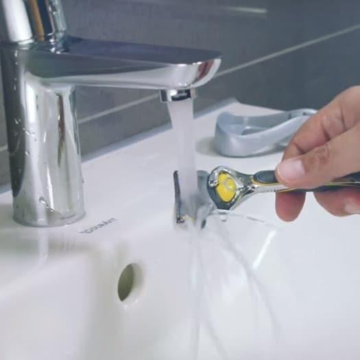 Eviter bouton rasage nettoyage rasoir