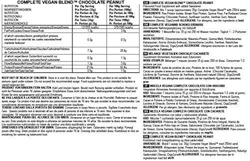 Bulk Powders protéines végétales composition