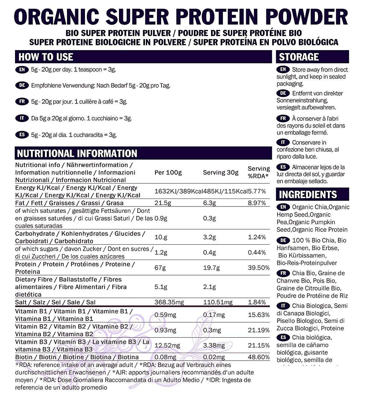 Indigo Nutrition protéines végétales composition