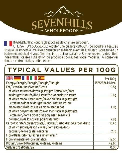 Sevenhills Wholefoods protéines végétales composition
