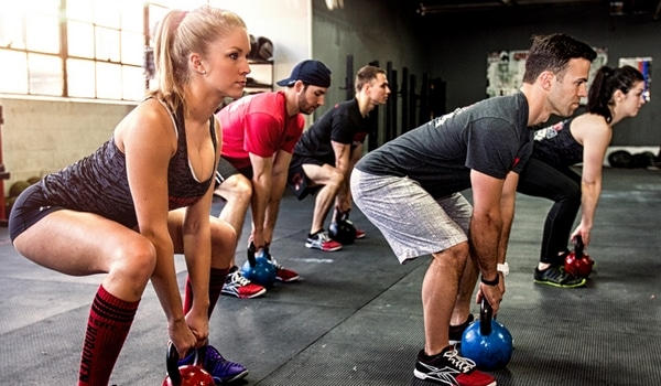 Exercice kettlebell entrainement