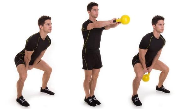 Exercice kettlebell swing