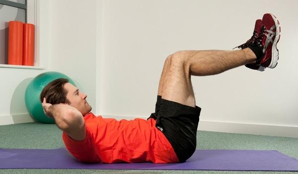Exercices abdos crunch