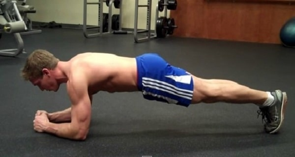 Exercices abdos planche