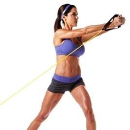 Exercices abdos rotation buste poulie