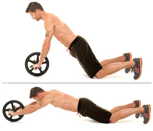 Exercices abdos roue