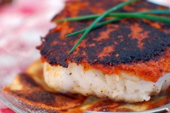 Recette plancha plat cabillaud en croûte de pesto
