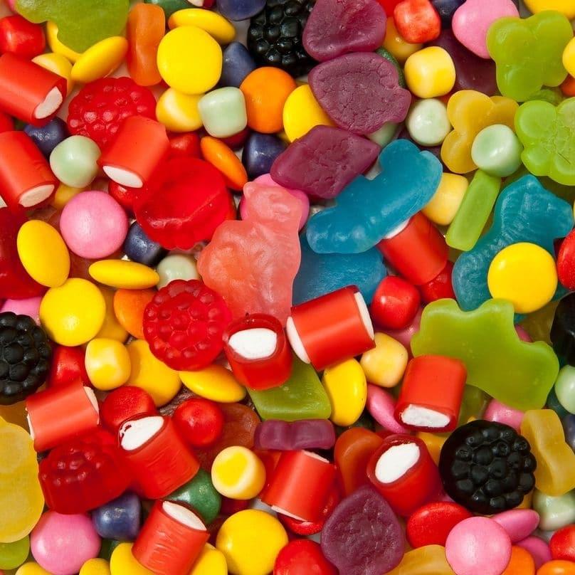 Bons mauvais aliments dents bonbons