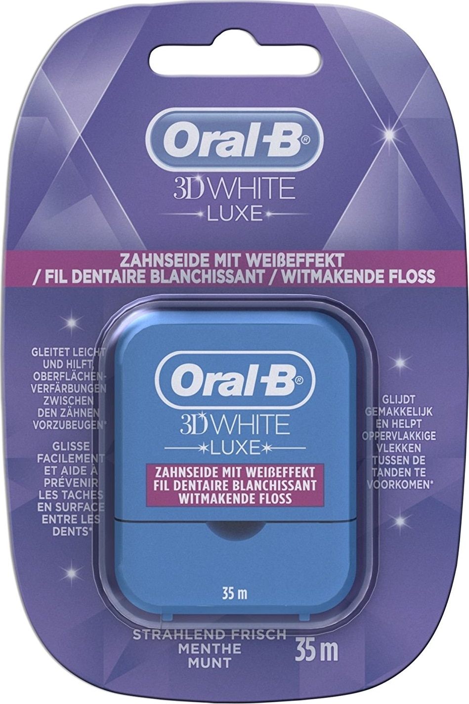Fil dentaire Oral B 3D White Luxe