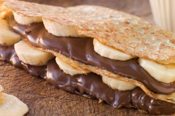 Recette crêpe sucrée banane chcolat