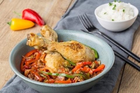 Recette plat cookeo poulet basquaise