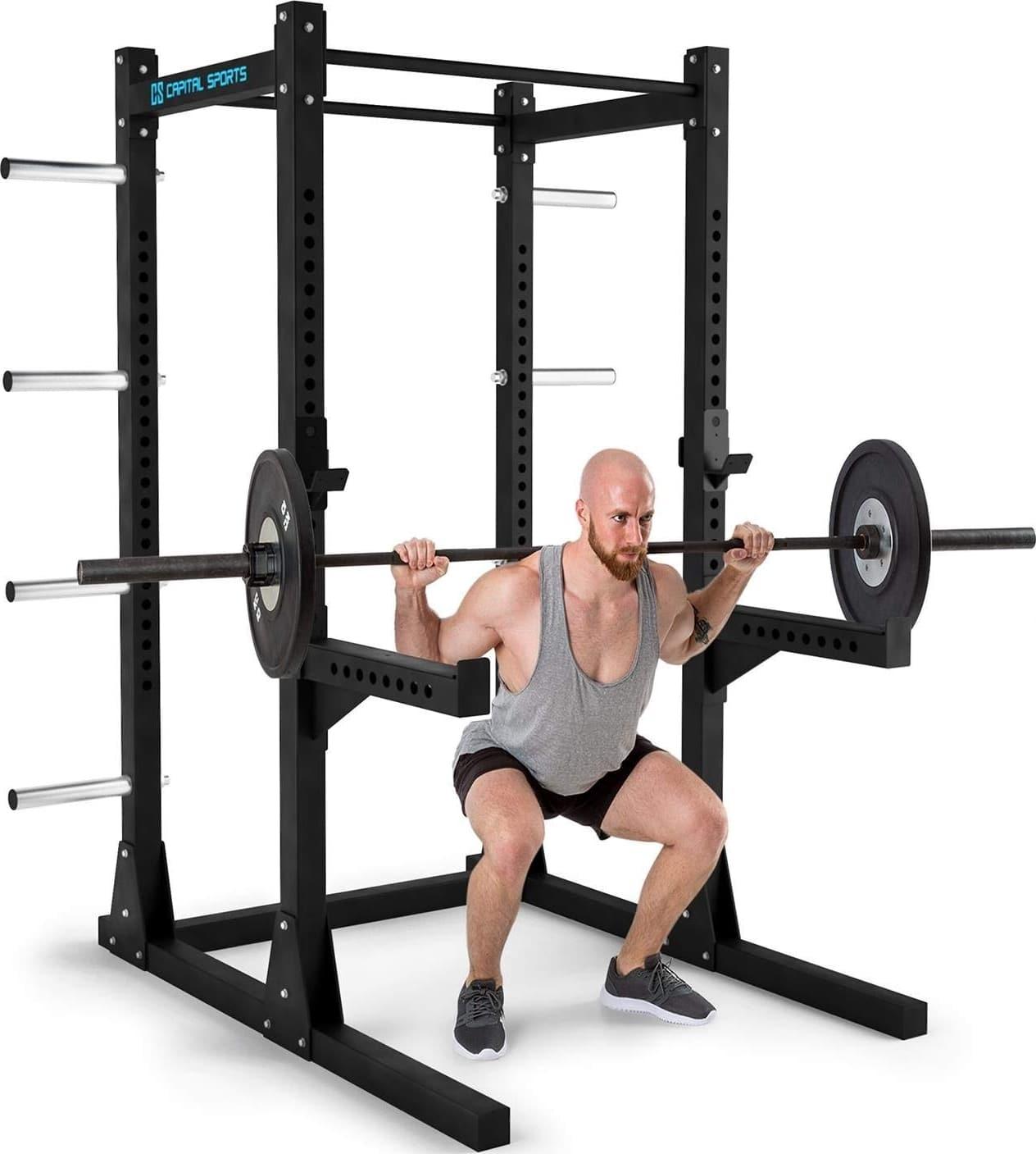 ZYTT Cage Crossfit Exterieur Chaises Romaine Traction Banc Poids Gorilla Sports Rack Poids Support Barre Musculation Banc De Musculation Fitness Pliable Complet avec Poids Gorilla Sport