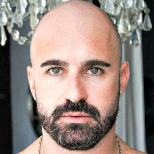 Chauve barbe dégradée
