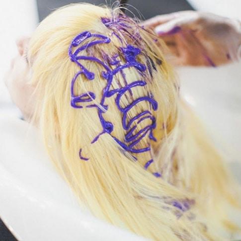 Shampoing bleu soin déjaunissant