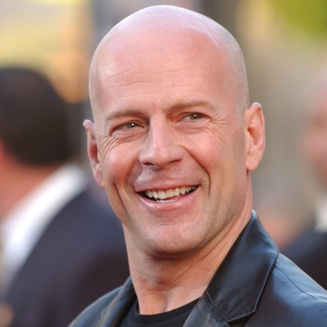 Star chauve Bruce Willis