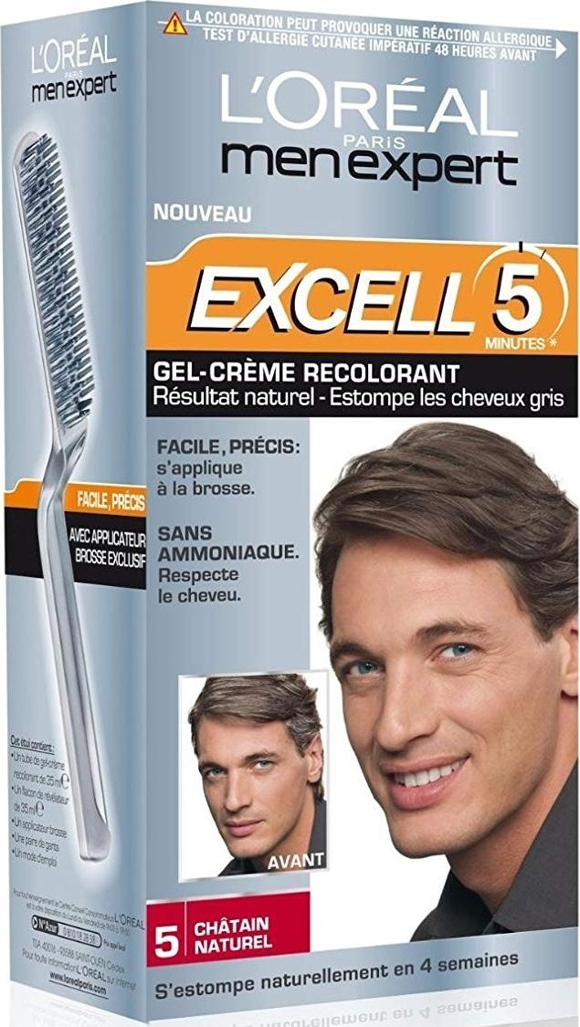 Coloration cheveux homme Excell 5 L'Oréal Men Expert