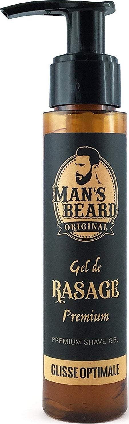 Gel de rasage transparent Man's Beard